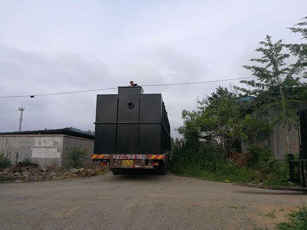 发往云南红河的农村污shui处理设备